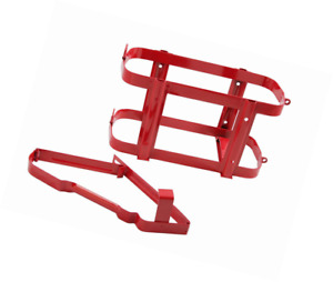 1pc Red Jerry Can Holder Steel Bracket Mount For 5 Gallon 20 Liter Gas Tank