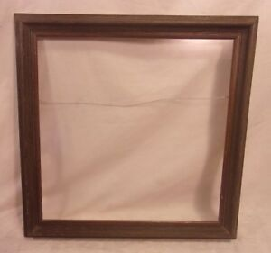 Vintage Mid Century Wooden Frame 21x21 Holds 18x18 Molding 1 3 4