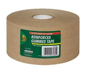 10x Rolls Reinforced Packing Tape Gummed Kraft Paper Backing Tape 2 75 X 375