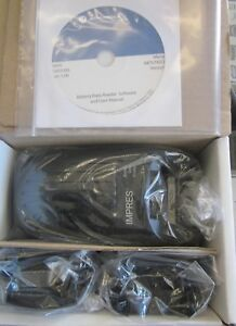 Motorola Impres Battery Data Reader Nntn7392a Includes Adapters new