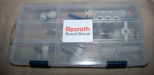 Lot Of Bosch Rexroth Miscellaneous Valves Fittings 3 8 5 16 1 4 Valve Fitting