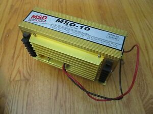 Msd Ignition 7500 Msd 10 Drag Racing Ignition Control Gold