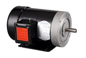 1 5 Hp Electric Motor General Purpose 56c 5 8 shaft 3 Phase 230 460v 3600rpm