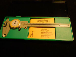 RCBS Omark Industries Dial Type 6941 Caliper with Instructions