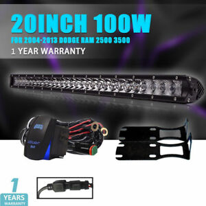 20inch Cree Led Light Bar Spot Flood Driving Offroad For Dodge Ram 2500 3500