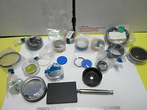 Lot Microscope Part Polyvar Reichert Leica Optical Filters Nice Optics Bin 53 25