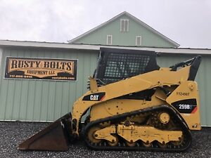 2013 Caterpillar 259b3 Track Skid Steer Loader Enclosed Cab 2 Spd Low Cost Ship