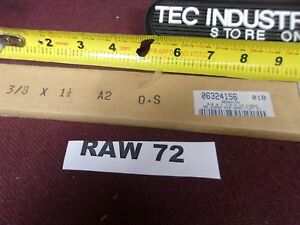 A2 A 2 Tool Steel 3 8 X1 1 2 X 18 Oversized Flat Stock Raw72