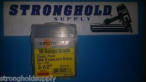 16g 2 1 2 Ss Finish Nails 16140ss Spotnail Stainless Steel 1000 Per Carton