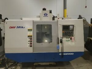 Used Daewoo Dmv 3016 Cnc Vertical Machining Center Mill Fanuc Doosan Ct40 2004