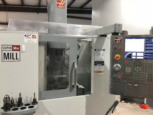 Used Haas Super Mini Mill Cnc Vertical Machining Center 10k Rpm 4th Ready 2007