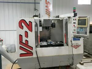 Used Haas Vf 2 Vertical Mill Machining Center 30x16 Vmc Gear Box P cool Rigid 97