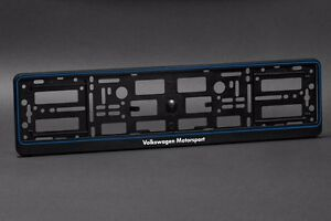 2 X Volkswagen Motorsport Euro License Number Plate Frame Holder