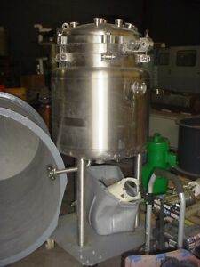 50 Gallon 316l Stainless Steel Jacketed Reactor Fv 45 Psi With Mixer