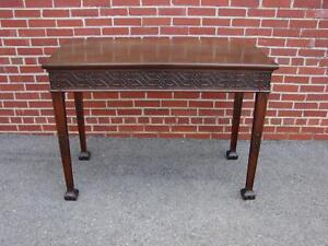 Antique Mahogany Chinese Chippendale Hallway Sofa Table