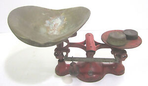 Vtg Cast Iron Jacob Brothers Number 2 Industrial Commercial Scale Tray Weights