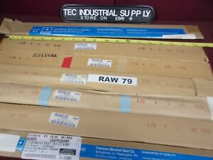A2 A 2 Tool Steel Lot Of 13 Asorted 1 8 Thick Flat Stock In Various Sizes Raw79