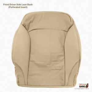 Front Driver Top Perforated Leather Seat Cover Tan For 2006 To 2013 Lexus Is250