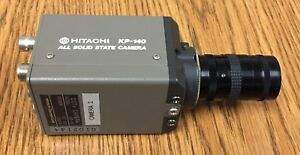 Hitachi Kp 140 Cctv Camera All Solid State Dc 12v 300ma With Lenses