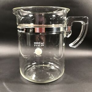 Pyrex Lab Beaker With Glass Handle 3000ml No 1010 Excellent Condition