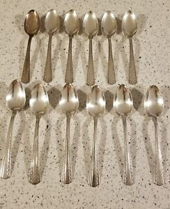 12 American Silver Co International Camelot Harvest Teaspoons Shiny Finish