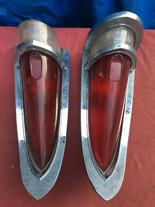 Vtg Taillight 1960s Chrysler Hot Rat Rod Light Chevy Set Art Deco Mopar Ford