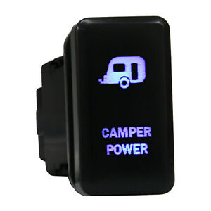 12v Push Switch 865b Camper Power Led Blue On Offfor Toyota Highlander Tacoma 3a