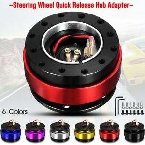 Steering Wheel Quick Release Ball Lock Hub Adapter Boss Snap Off Universal Alloy