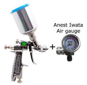 Anest Iwata Lph 80 124g 1 2mm Spray Gun With Cup Pcg 2d 1 Air Gauge Lph80 124g