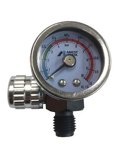 Anest Iwata Air Gauge For Spray Gun Air Regulator Pressure Air Adjustment Valve