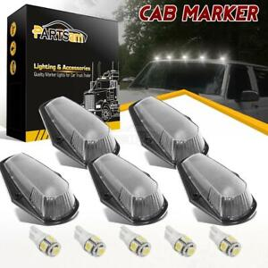 5 Cab Top Clearance Clear Lights White 5050 194 Leds For Ford 80 97 Super Duty