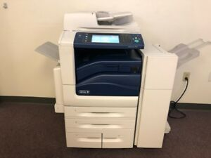 Xerox Workcentre 7845 Color Copier Machine Network Printer Scan Fax Finisher