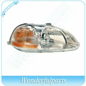 Head Light Fit Ho2503110 Honda 96 98 Civic Sedan Coupe Hatchback Right Side