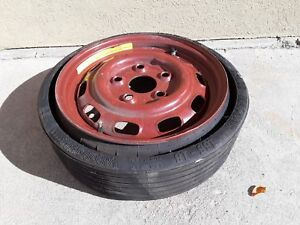 1983 1988 Porsche 944 2 5l Emergency Spare Wheel Rim Disc Tire Vredestein Oem