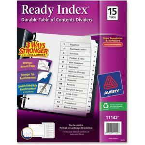 Avery 11142 15 tab Letter Total 24 St Sold As 1 Carton