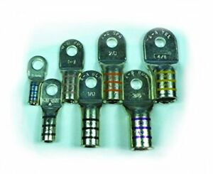 Heavy Duty Tinned Marine Battery Cable Lug By Ftz 8 Ga Wire 3 8 Stud 25 bag