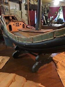 Antique Wooden Ship Sailing Model Wooden Ship Chinese Junk