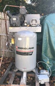 240v Ingersoll Rand T30 450 Psi Air Compressor 5hp Three Phase Ships Fob