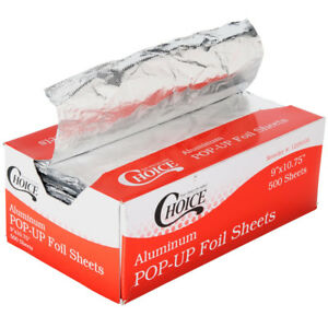 6000 Case 9 X 10 3 4 Food Interfolded Pop Up Aluminum Foil Sheet Wrap Box