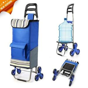 Folding Shopping Cart Stair Climbing Grocery Laundry Utility Bag Teacher Lawyer