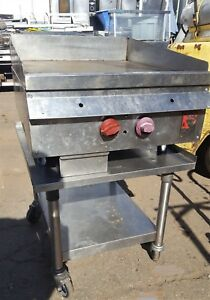 Wolf 24in Flat Griddle Grill With Manual Thermostat On Stand