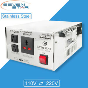 Sevenstar Ct 2000w Watt Usb Voltage Converter Step Up Down Transformer 110v 220v