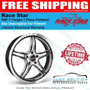 Race Star Rsf 1 Forged 1pc Polished Black 15x10 5x4 75bc 7 25bs Gm 01 510254mb