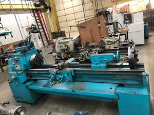 Used Southbend 17x84 Turn Nado Manual Engine Lathe Flatbed Steady Rest Tailstock