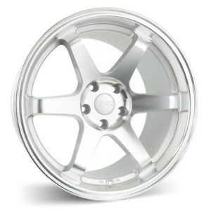 Esr Sr07 18x8 5 30 18x9 5 22 5x100 Silver Machined Face Staggered set Of 4