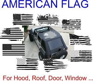 American Flag Sticker Vinyl Decal For Car And Truck On Roof Hood Window Side