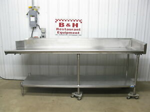 102 Stainless Steel Heavy Duty Right Side Clean Dish Washer Machine Table 8 6