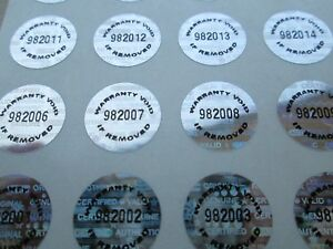 2000 Silver Tamper Evident Warranty Void High Security Labels Stickers 5 Inch
