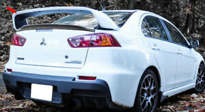 For 08 17 Mitsubishi Lancer S Only X Original Evo 10 Rear Trunk Spoiler Wing Abs