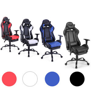 Racing Gaming Chair Ergonomic High Back Office Chair Swivel Pc W lumbar Support